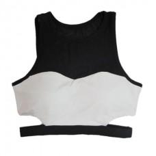 เสื้อ ครอป ออกกำลังกาย (สีขาว) - Size S M L