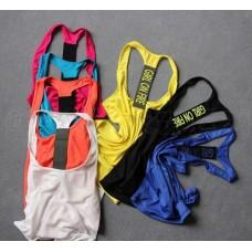 เสื้อกล้าม ฟิตเนส โยคะ ไซส์ M   (พิมพ์ลาย GIRL ON FIRE) มีให้เลือก3สี