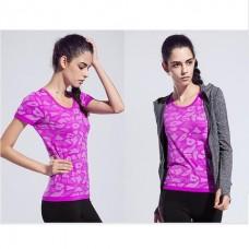 เสื้อยืด ออกกำลังกาย แขนสั้น Size M - มีให้เลือก 3 สี ( น้ำเงิน ม่วง เทา)
