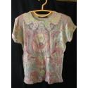 เสื้อยืด Shlomo แบรนด์ แนวโยคะ รักษ์โลก สกรีนลาย ธิเบต เนปาล ผ้าบาง size L เข้ารูป
