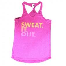 Fitness  Yoga Tank Top เสื้อกล้าม ฟิตเนส โยคะ ไซส์ M (สีชมพ-ม่วง)