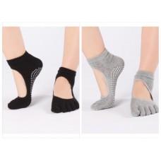 SALE ซื้อ 4 แถม 1 ถุงเท้าโยคะ ถุงเท้ากันลื่น รุ่นปิดนิ้วเท้า