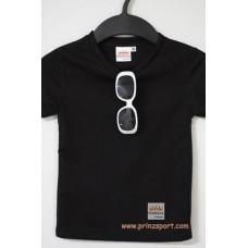 Sale 4 ตัว 100  เสื้อกีฬาเด็กสีดำ เสื้อกีฬาเด็ก เสื้อดำ เสื้อสีดำ Size S